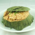 Fried Rice Wrapped in Lotus Leaf 腊味荷叶饭